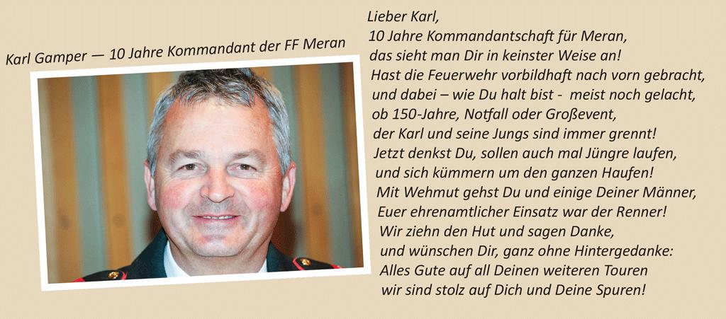 Karl Gamper Abschied Feuerwehr