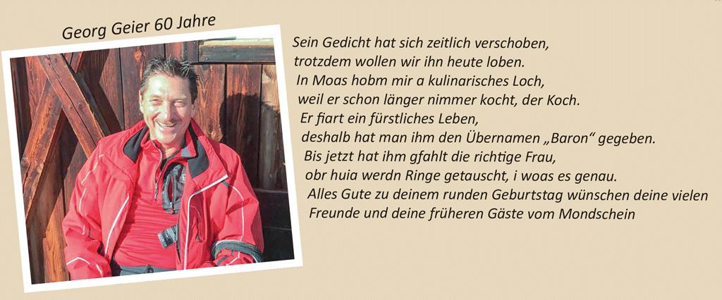 Georg Geier 60 Jahre