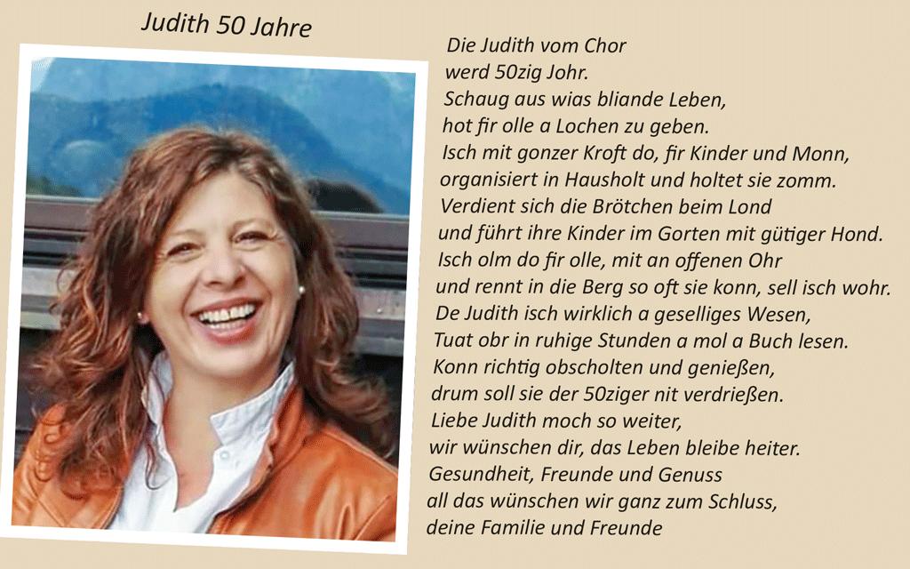 Judith Enz 50 Jahre