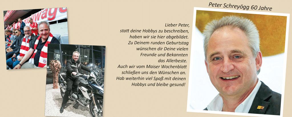 Peter Schreyögg 60 Jahre