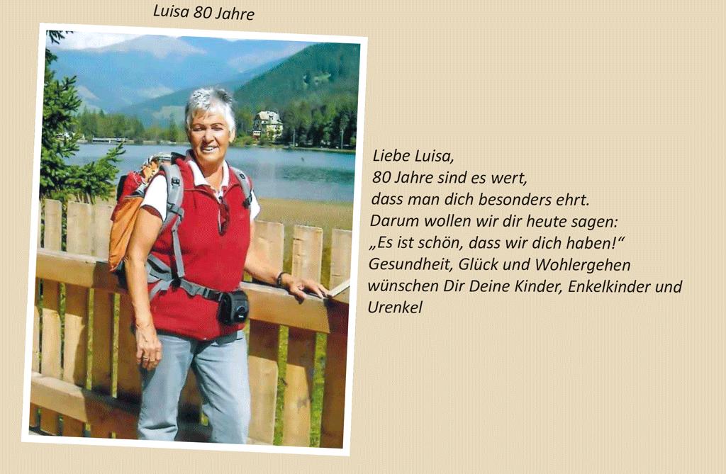 Luisa 80 Jahre