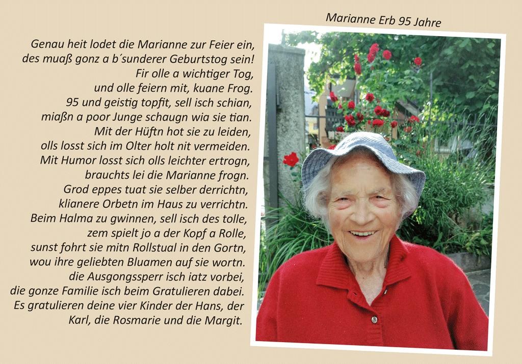 Marianne Erb 95 Jahre