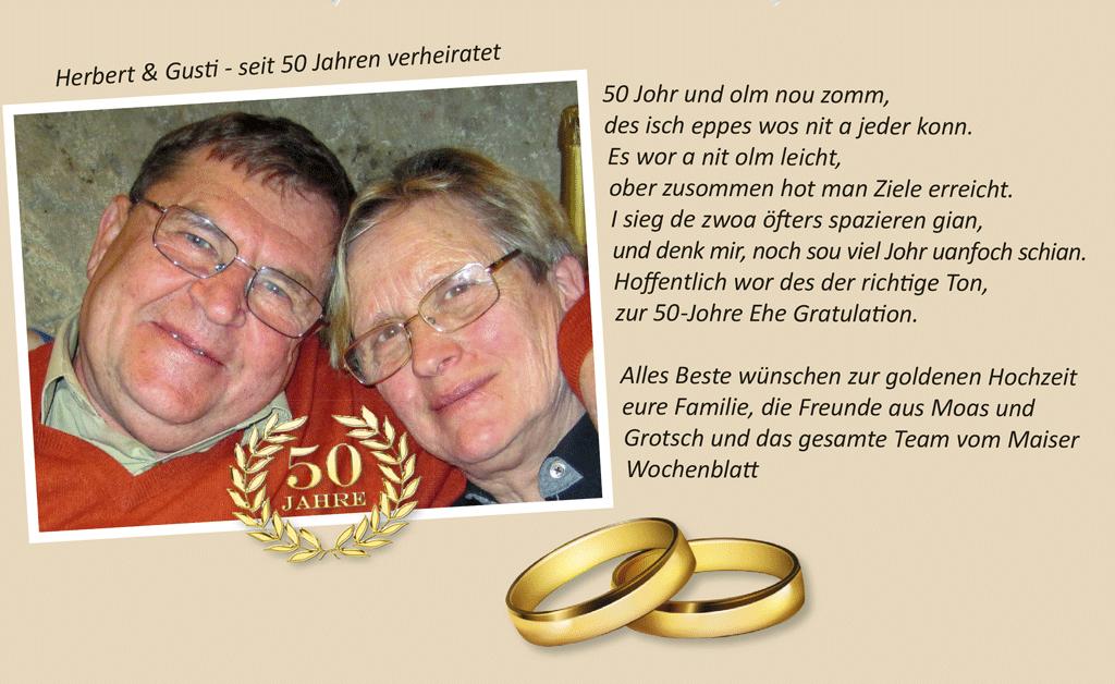 Herbert und Gusti seit 50 Jahren verheiratet