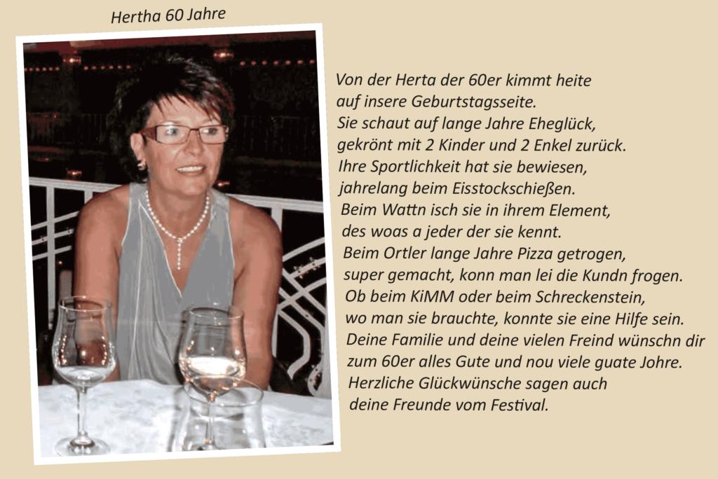 Hertha 60 Jahre
