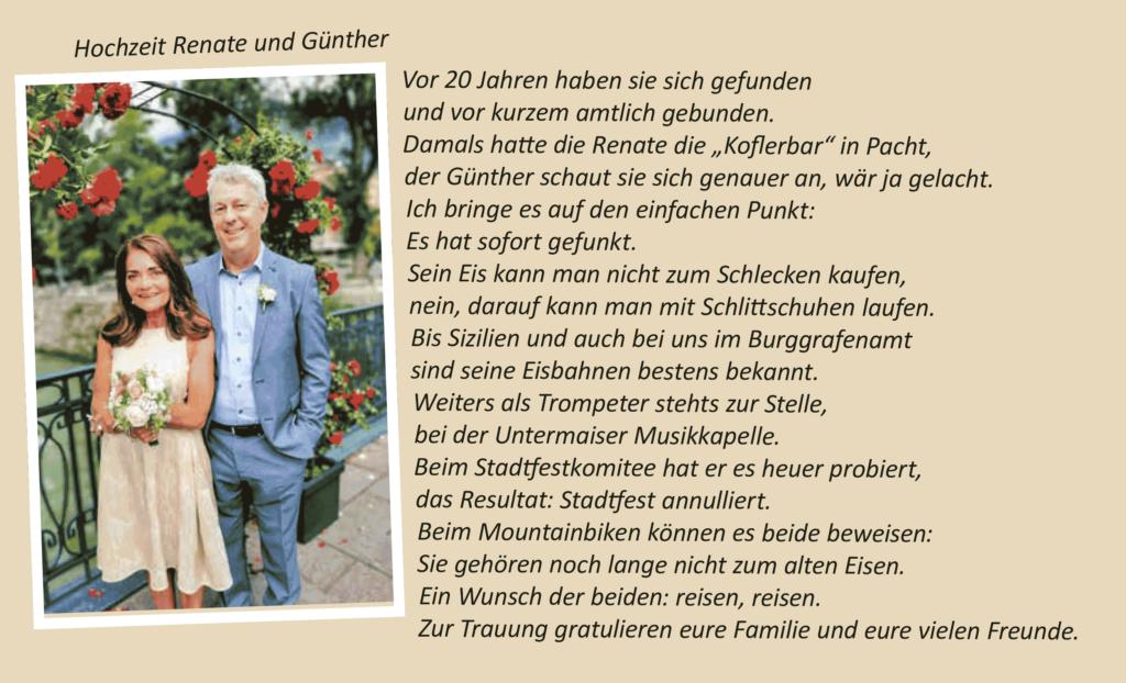Hochzeit Renate & Günther