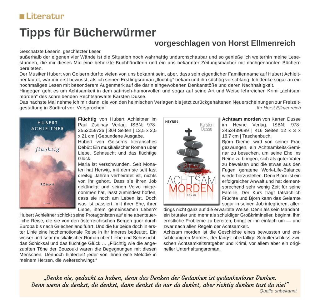 Tipps für Bücherwürmer
