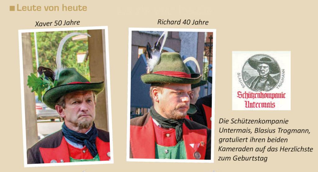 Richard 40 Jahre | Xaver 50 Jahre